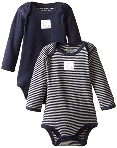 3a81dfe34 Bodysuits – Burt's Bees Baby Unisex Baby, 2-Pack Long Sleeve & Short Sleeve  One-Piece Bodysuits, Organic Cotton, Navy/Stripes, 0-3 Months
