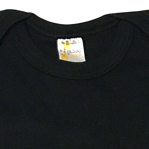 a2b4285e2315 Bodysuits – Laughing Giraffe Unisex Infant Blank Cotton Long Sleeve Baby  Bodysuit One Piece (0-3M, Black)