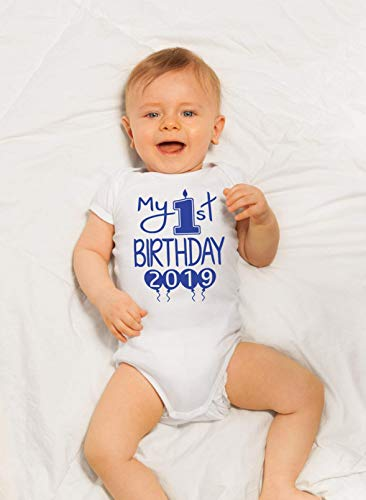 44a9f492fb06 Bodysuits – Reaxion Aiden's Corner Handmade 1st Birthday Baby Clothes – Baby  Boy My First Birthday Bodysuits & Shirts (18 Months, Candle White Royal LS)  ...