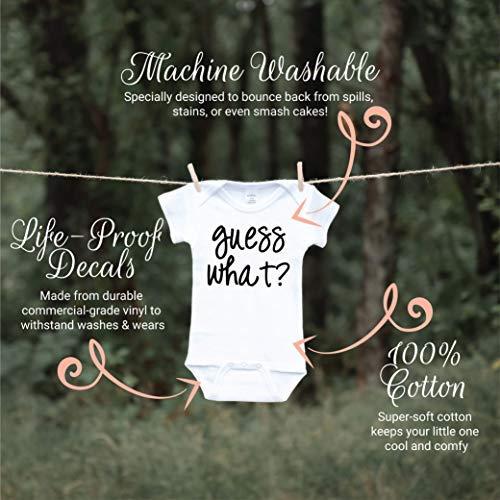57f03754e Bodysuits – Surprise Pregnancy Announcement Grandparents, Guess What (0-3  Months) Black